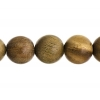 Bead-brazil Sandalwood Round 8In 15mm Light Green